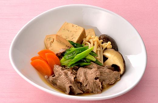 【親子レシピ】きのこ入り肉豆腐