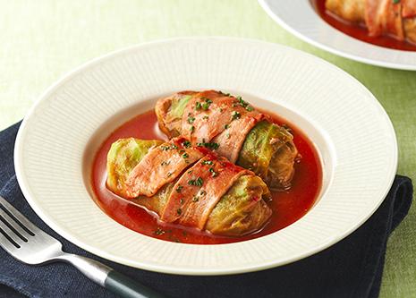 トマトジュースを使ってロールキャベツ (レシピNo.1715)|ネスレ バランスレシピ