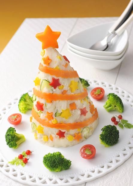 クリスマスツリーサラダ (食物アレルギー対応)