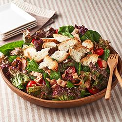 カリカリベーコンのほうれん草サラダ